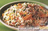 Фото к рецепту: Рисовый салат с кукурузой