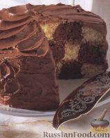 Фото к рецепту: Шахматный торт