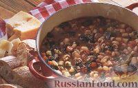 Фото к рецепту: Итальянский суп с купатами и фасолью