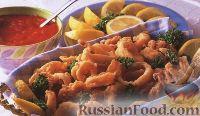 Фото к рецепту: Кальмар в остром пикантном соусе