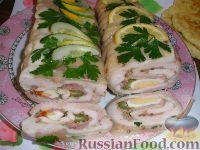 Фото к рецепту: Роллада свиная с куриным филе