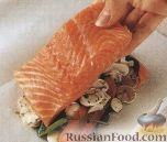 Фото приготовления рецепта: Лосось, запеченый в конвертах - шаг №3