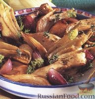 Фото к рецепту: Курица, запеченая с овощами
