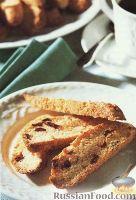 Фото к рецепту: Бискотти с орехами и клюквой