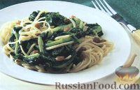 Фото к рецепту: Паста с брокколи и анчоусами