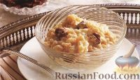 Фото к рецепту: Рисовый пудинг с сушеными вишнями