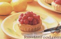 Фото к рецепту: Тарталетки с лимоном и малиной