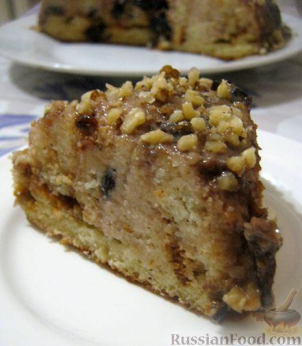 """Рецепт Торт """"Панчо"""" с черносливом, сметаной и грецкими орехами"""