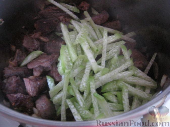 Фото приготовления рецепта: Суп-лагман - шаг №14