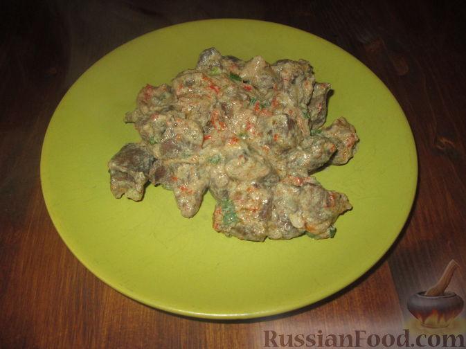 Рецепт Сердечки с болгарским перцем в сливочном соусе