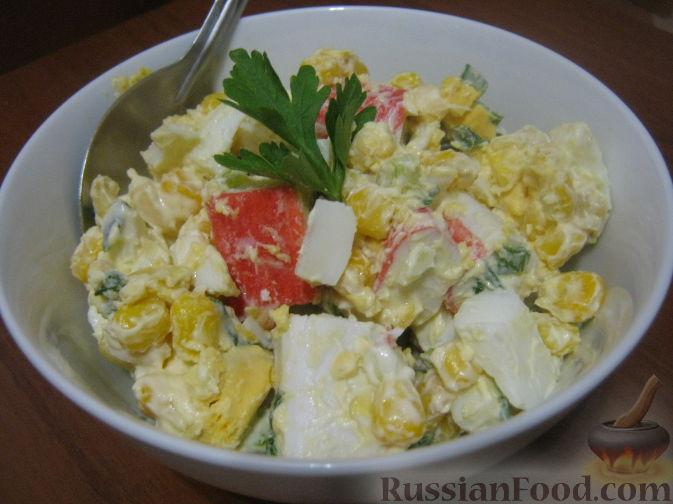 салат нежность рецепт с фото с крабовыми