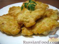 Фото к рецепту: Оладьи из куриной грудки