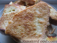 Фото к рецепту: Гренки сырные
