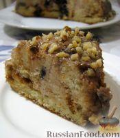 """Фото к рецепту: Торт """"Панчо"""" с черносливом, сметаной и грецкими орехами"""