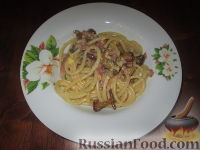 Фото к рецепту: Паста Карбонара с грибами