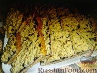 """Фото к рецепту: Печенье """"Венское"""" (тертый пирог) с черной смородиной"""