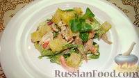 Фото к рецепту: Теплый салат с курицей