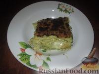 Фото к рецепту: Лазанья с соусом песто и креветками