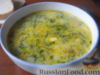 Фото к рецепту: Суп сырный со шпинатом