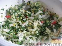 """Фото к рецепту: Салат """"Весенний"""" со шпинатом"""