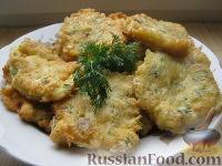 Фото к рецепту: Оладьи из рыбного филе