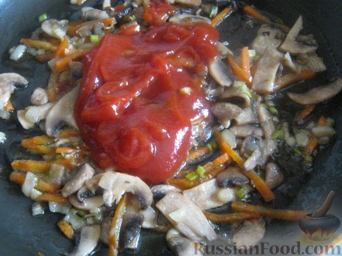 Фото приготовления рецепта: Постный рассольник с грибами - шаг №9