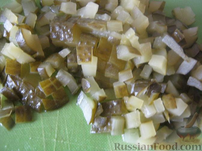 Фото приготовления рецепта: Постный рассольник с грибами - шаг №6