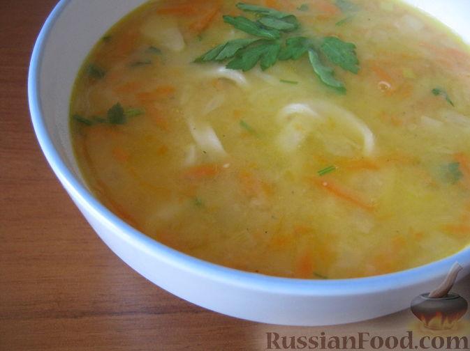 Рецепт Суп постный гороховый с лапшой
