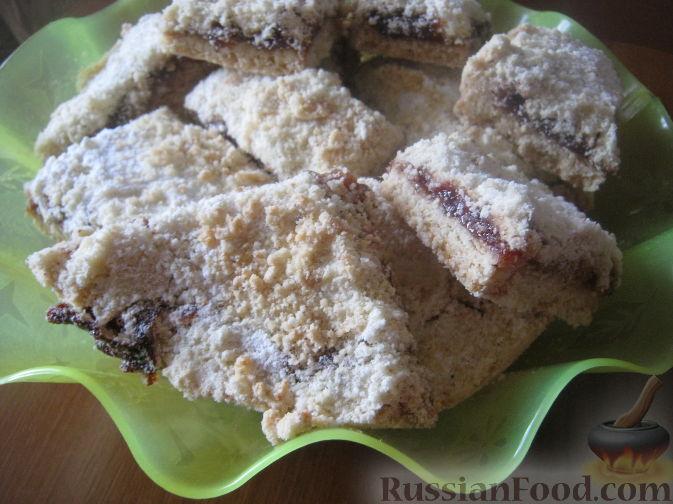 Рецепт Насыпной постный пирог с вареньем