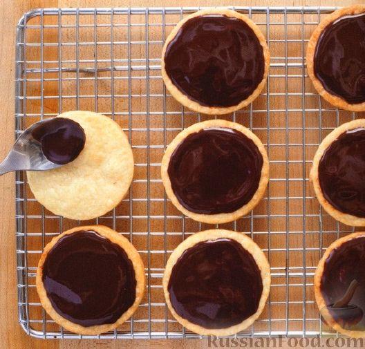 Рецепт Глазированное песочное печенье