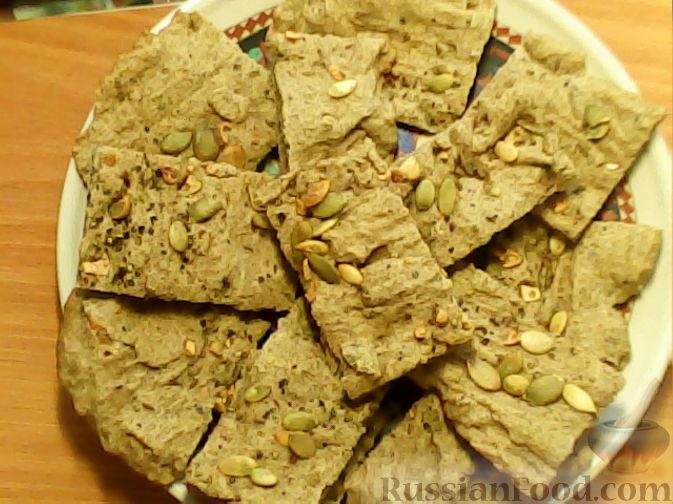 Рецепт Пряный постный хлеб с тыквенными семечками