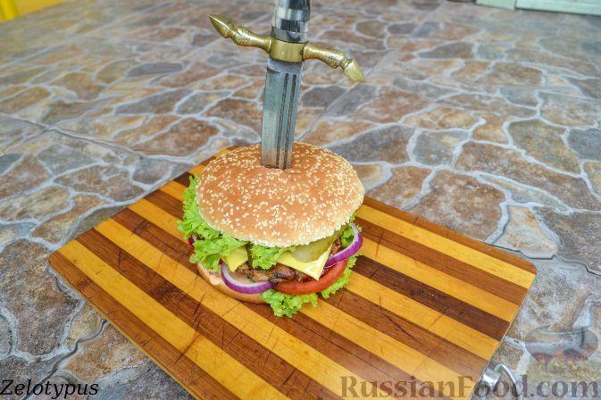Рецепт Гамбургер с куриной котлетой