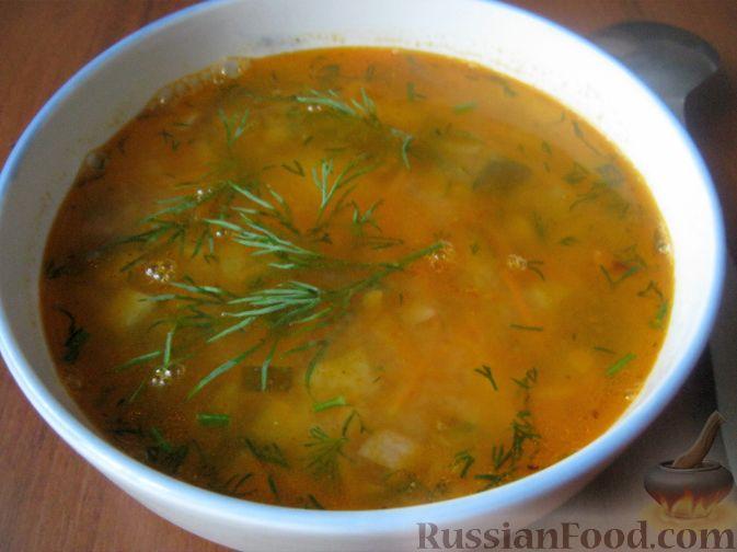 Рецепт Суп из чечевицы с солеными огурцами
