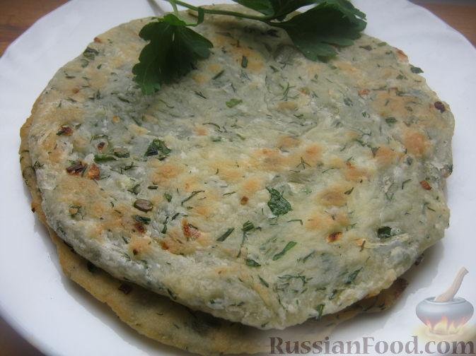 Рецепт Лепешки чалпак с луком