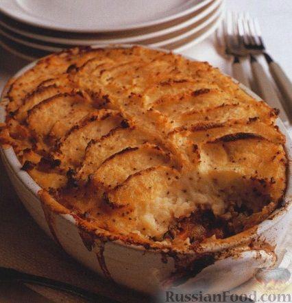Рецепт Ягнятина, запеченная под картофельным пюре