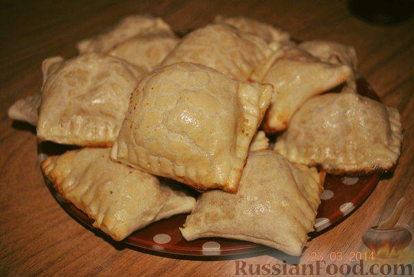 Рецепт Слоеные пирожки с ветчиной и сыром