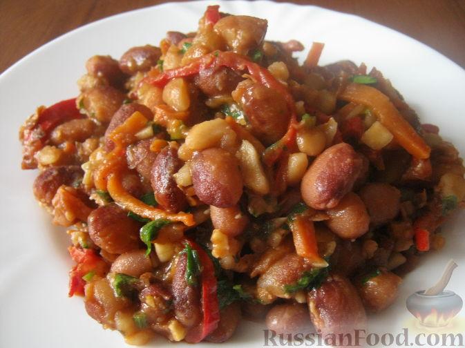 Рецепт Лобио с грецкими орехами