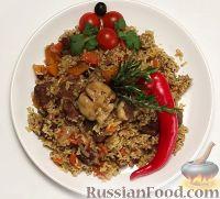 Фото к рецепту: Плов из баранины с тыквой (в мультиварке)