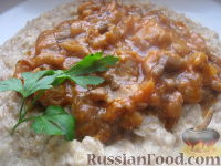 Фото к рецепту: Грибы в томатном соусе