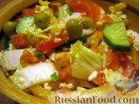 Фото к рецепту: Простой салат из брынзы с овощами