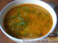 Фото к рецепту: Суп из чечевицы с солеными огурцами