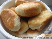 Фото к рецепту: Пирожки жареные с сыром тофу и зеленью