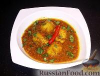 Фото к рецепту: Яйца, тушённые с картофелем, по-Бенгальски  (Dimer Dalna)