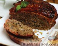 """Фото к рецепту: Мясной """"хлеб"""" (мясной рулет) из трех видов мяса"""