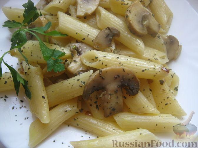 Рецепт Паста с шампиньонами