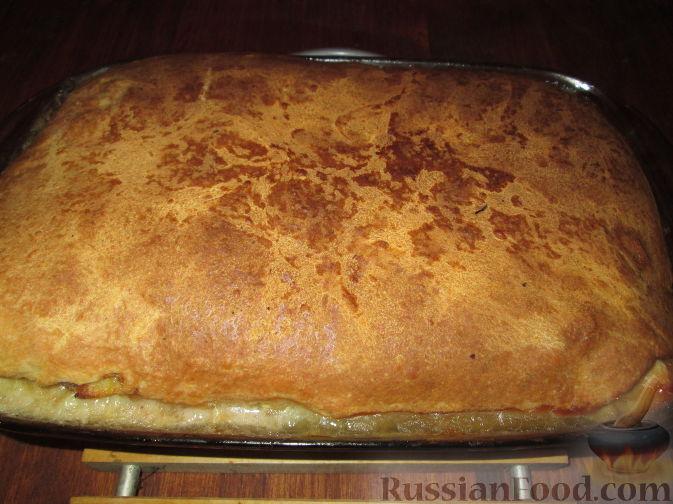 Рецепт Пирог с индейкой, картофелем и грибами