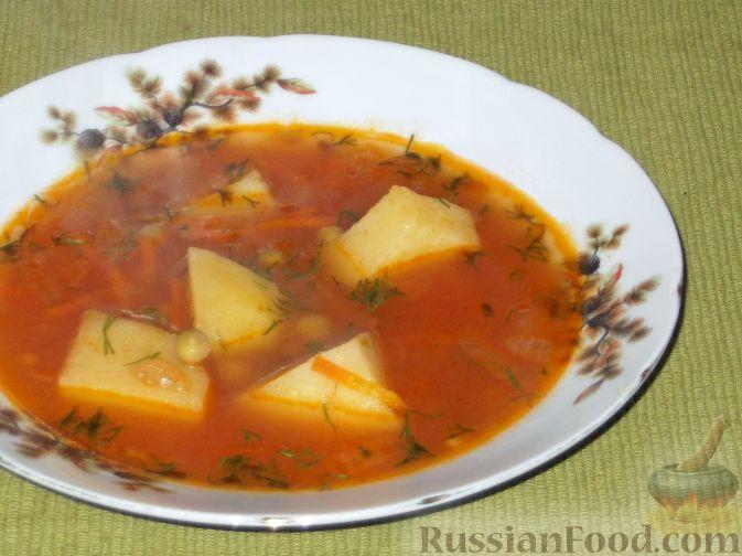 Рецепт Суп с зелёным консервированным горошком