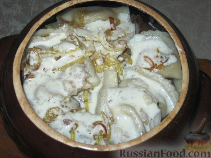 печень в горшочках с картошкой в духовке