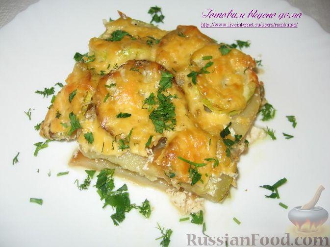 Рецепт Картофель, запеченный с кабачками