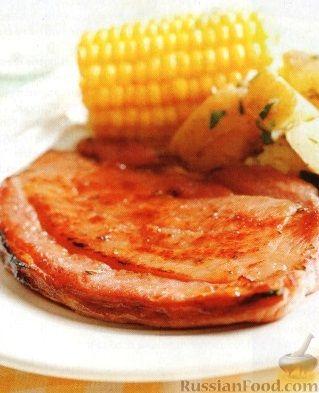 Рецепт Свиной стейк, приготовленный на гриле
